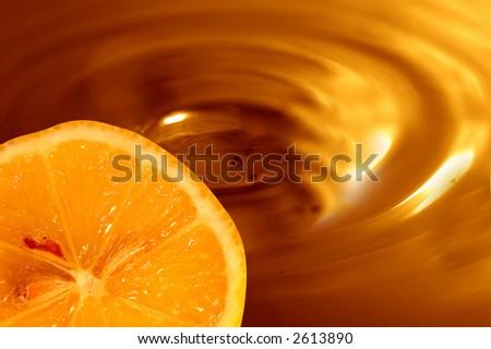 Chocolate orange background - stock photo
