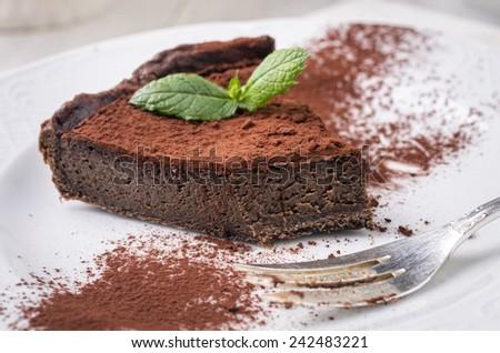 chocolate pie - stock photo