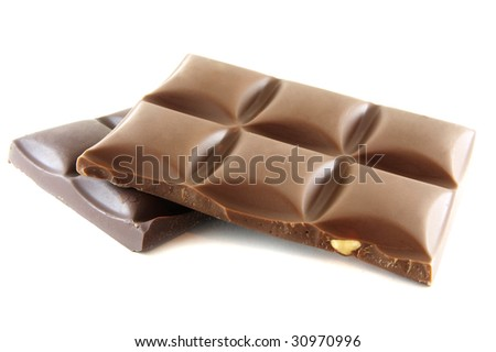 chocolate pieces - stock photo