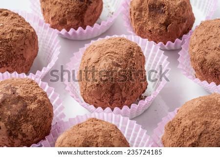 chocolate pralines - stock photo