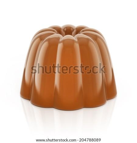 chocolate pudding 3d illustration - stock photo