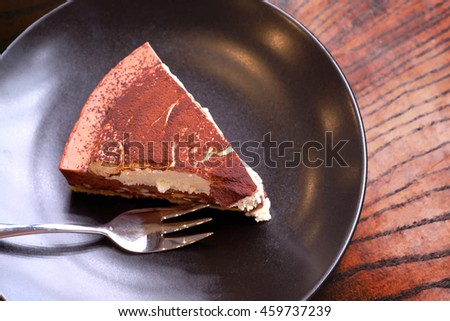 Chocolate ricotta cake. - stock photo