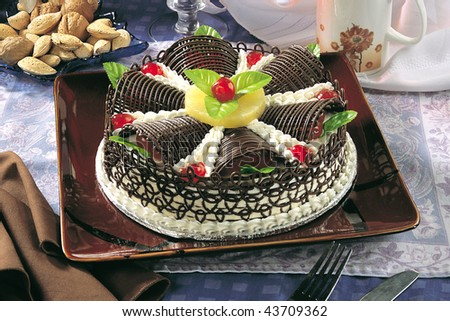 Chocolate Rings Cake - stock photo