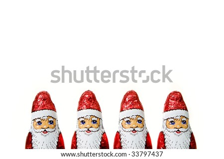 chocolate santa claus - stock photo