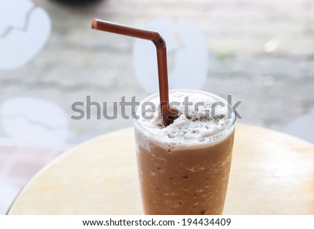 chocolate shake - stock photo