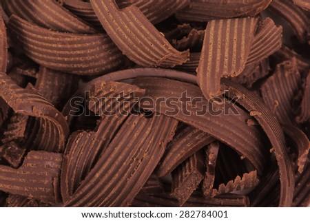 chocolate shavings background - stock photo