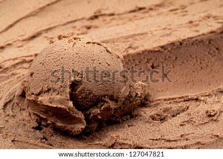 Chocolate Soft Serve Ice Cream in a background image - stock photo