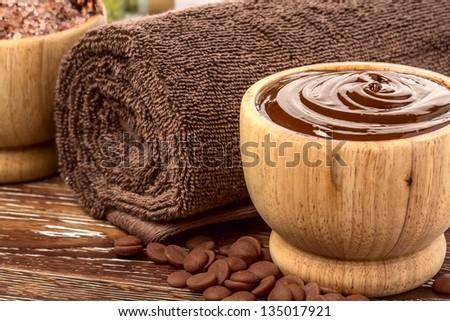 Chocolate spa - stock photo