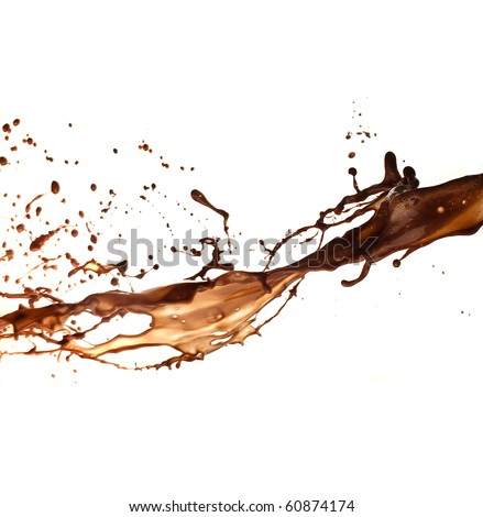chocolate splash - stock photo