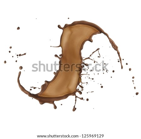 chocolate splash over white
