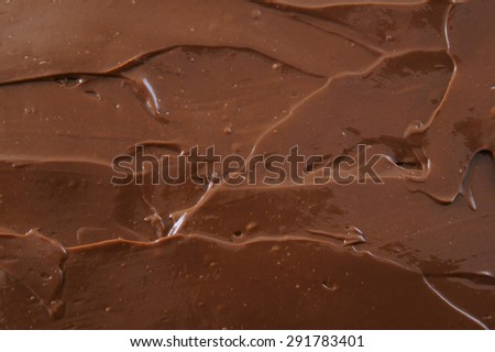 Chocolate spread asbackground - stock photo