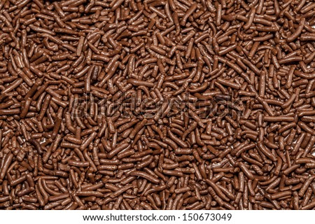 Chocolate sprinkles background.