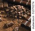 chocolate still life - stock photo