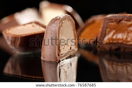 chocolate sweet - stock photo