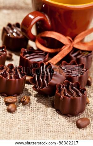 chocolate sweets - stock photo