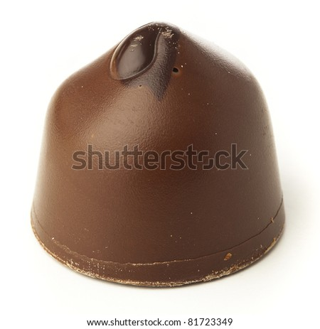 chocolate sweets isolated on a white background