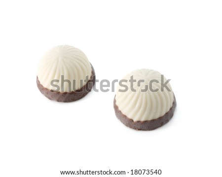 chocolate sweets isolated on white background