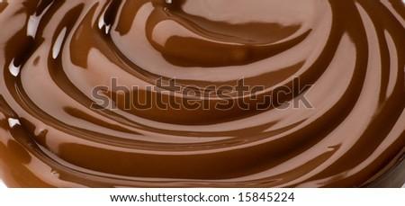 Chocolate swirl - stock photo