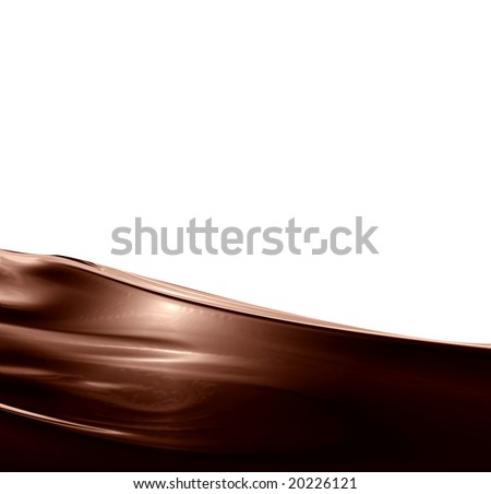 Chocolate swirl on a solid white background