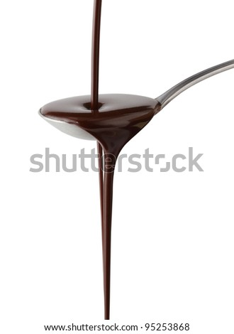 Chocolate syrup - stock photo