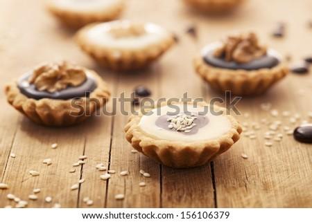 Chocolate tart - stock photo