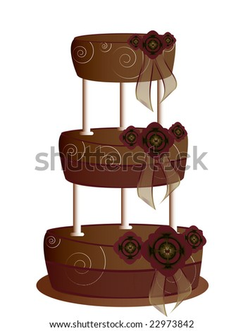 Chocolate tier cake - jpg version - stock photo