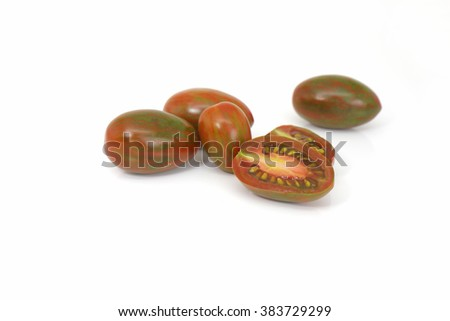 Chocolate Tomato or Brown color tomato isolate on white background