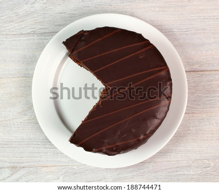 Chocolate Torte with Apricot Jam - stock photo