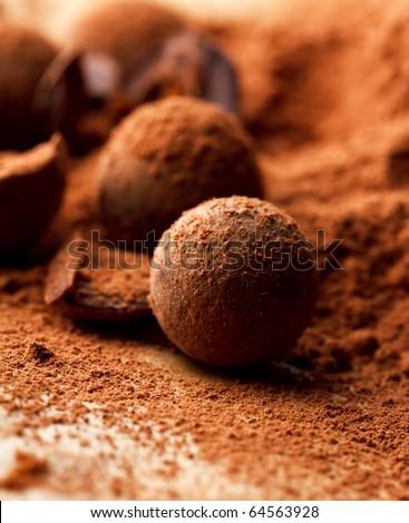 chocolate truffle - stock photo