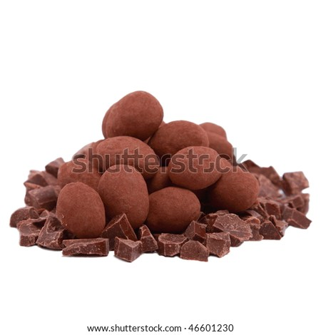 Chocolate truffle and slices - stock photo