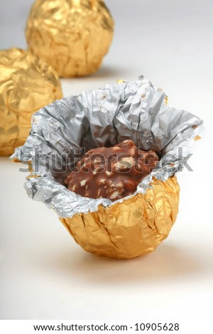 chocolate truffles foil wrap