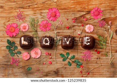 chocolate Valentine's present - stock photo