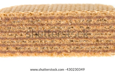 Chocolate wafers on a white background - stock photo