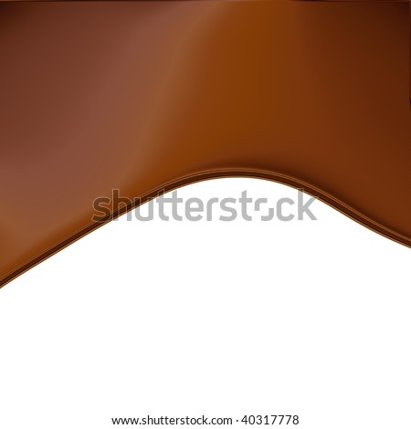 Chocolate Wave On White