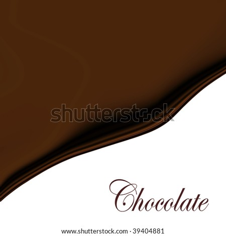 Chocolate Wave With Copy Space