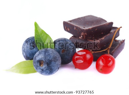 chocolate with blueberries