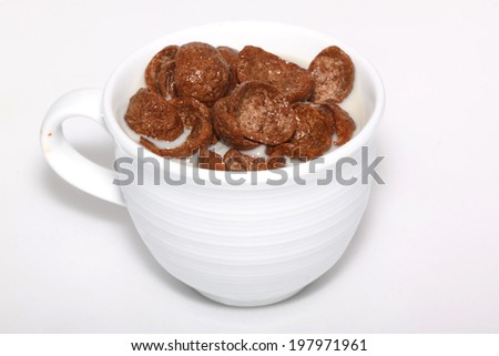 chocolate with milk in cup - stock photo
