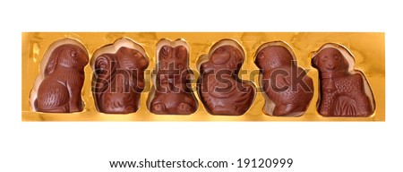 chocolates candy isolated on white