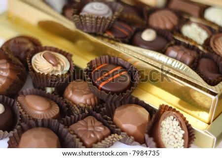 chocolates for valentine's day - stock photo