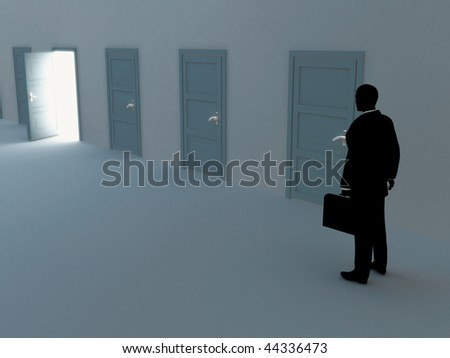 Choice. - stock photo