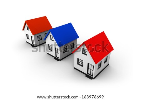 Choice of house. Real Estate - stock photo