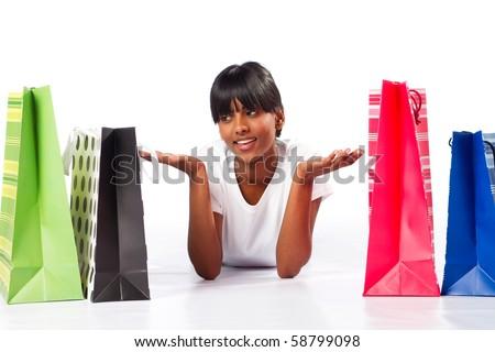 choice of shopping - stock photo