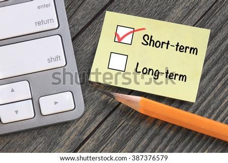 choice of short term decision  - stock photo