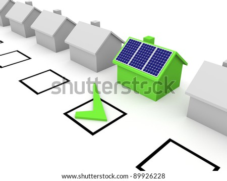 Choice of solar energy - stock photo