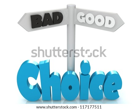 Choice of the road - stock photo