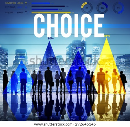 Choice Selection Option Choosing Risk Concept - stock photo