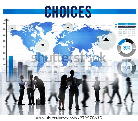Choices Choose Choosing Selection Option Concept - stock photo