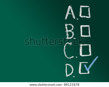 Choices with space for background - stock photo