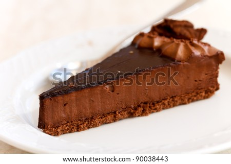 chokolate cake - Tart - stock photo