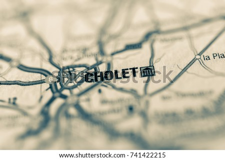Cholet On Map Stock Photo 719071750 Shutterstock